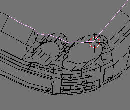 Image12. Wireframe view of the front bumper mesh.
