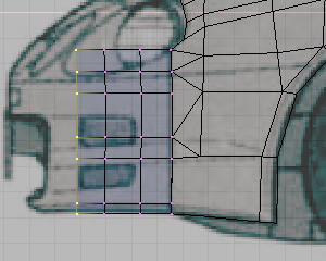 Image9a. separation and duplication for the bumper mesh.