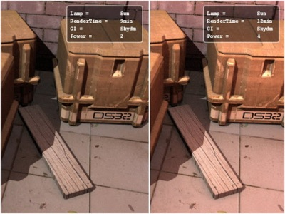 Image19. The left part of the image have the power of diffusion set at 2 while the right one at 4.
