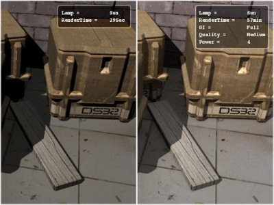 Image20. Using Full GI increases the time as well as realism.