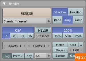 Render settings in blender