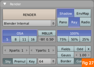 Render settings in blender