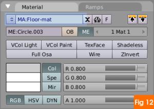 Floor material in blender