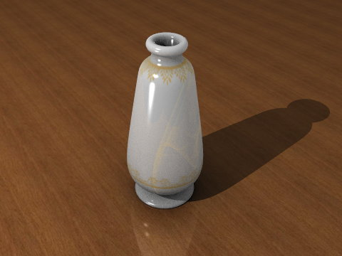 The Vase rendered in blender