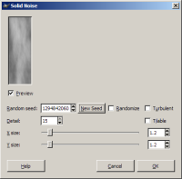 Solid Noise generator in gimp