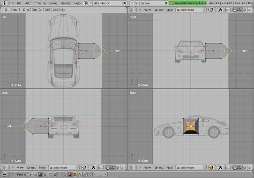 Car modeling in blender 3d an approach blender24 saargoga fig 2 checking the positioning of views malvernweather Images