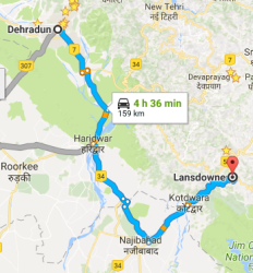 dehradun to lansdowne